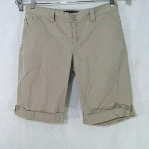 Calvin Klein Jeans Khaki Cuffed Bermuda Shorts